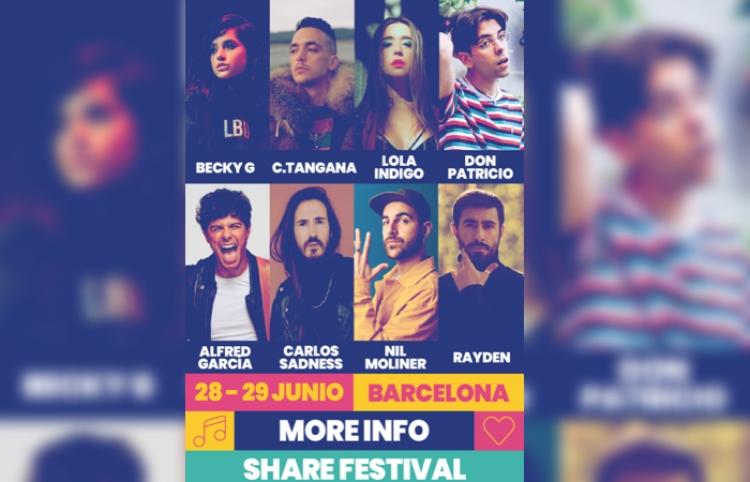 Becky G, C. Tangana, Don Patricio y más en el Share Festival 2019