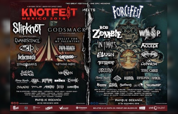 Knotfest y Force Fest anuncian su Lineup final